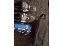 Football / Rugby boots size 10, shin pads and bag