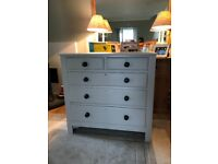 Vintage chest drawers painted F&B Elephant's breath