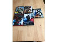 5 Action dvds good cond