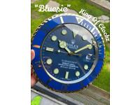 Rolex wall clock - Bluesie / 2 tone submariner- free U.K. P&P