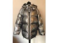 Ivy Park silver oversize jacket