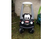 Little tikes cozy coupe car - dinosaur and police car