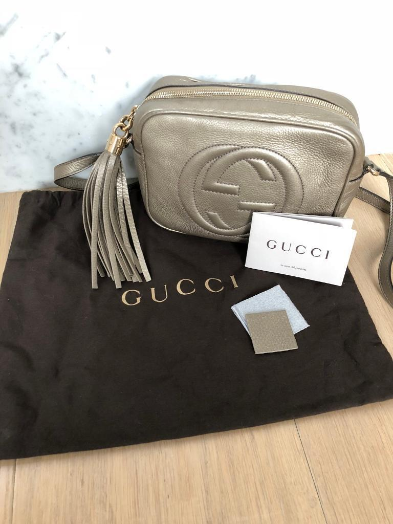 Gucci Soho Disco Bag Bronze Colour Genuine