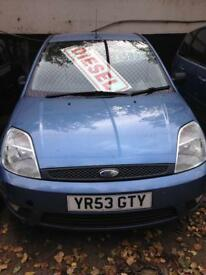 Ford Fiesta Zetec tdci, 2003, 1.4 diesel, cheap tax, full mot.