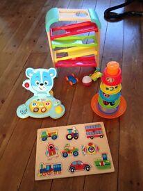 Toddler toy bundle, vtech laptop, jigsaw