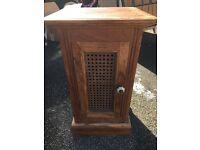 Bedside cabinet hardwood used