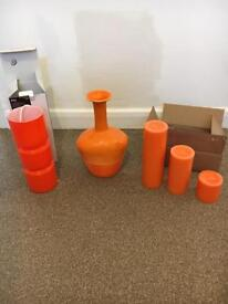 Orange home furnishings/ accessories
