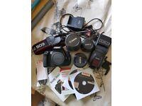 Canon 700D Bundle. 3 lenses, bag, ext flash, sd card, original cables and charger