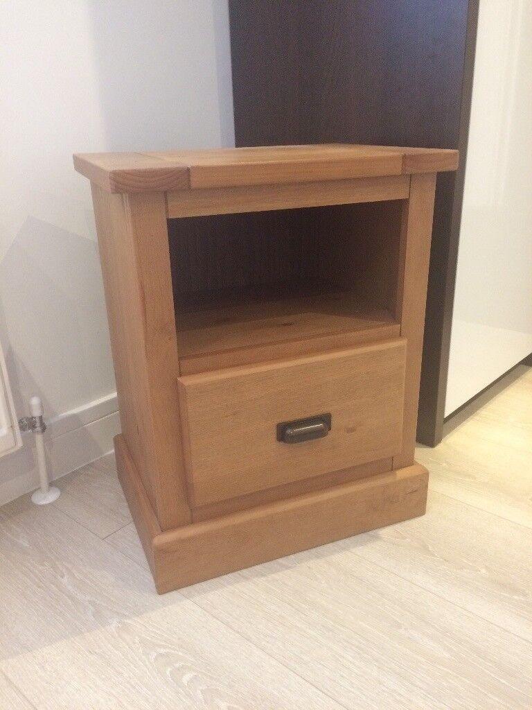 2 x Oak Bedside Tables. 50cm Wide, 62cm High, 36cm Deep