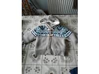 Boys fleece lined cardigans age 9 - 12 months