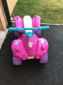 Pink electrical ATV