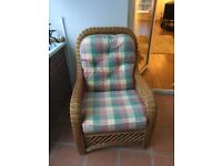 Chair suitable for conservatory or living area