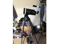 Telescope and motorised mount
