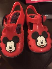 Micky mouse sandals size 4