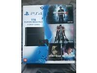 BNIB PS4 1TB with 4 games - never opened BNIB