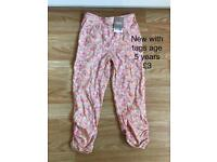 Girls trousers new with tags