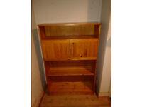 Pine bookcase cabinet