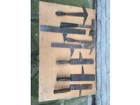 Old slating tools