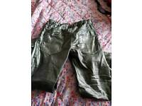 12-13 year old girls gold jean trousers