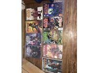 Star Wars, 4 graphic novels and 5 comics. Dark Horse comics