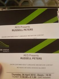 Russell Peters - Block N7, Live Wembley 26th April 4 Tickets 60 pounds each!!!