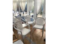 4 stacking garden chairs