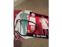 Scrubs, stethoscope & drs coat