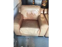 Pair of Tan Leather Armchairs