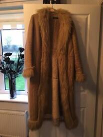 Ladies Suede and Fur Coat