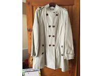 Marks and Spencer's indigo beige coat size 18