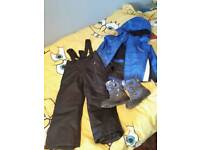 Boys ski suit and boots