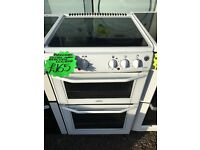 BELLING 50CM CEROMIC TOP ELELCTRIC COOKER IN WHITE