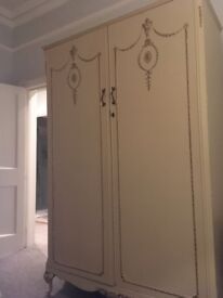 French Louis Painted Wardrobe