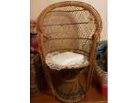 Wicker chair for display