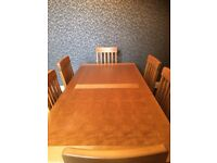 Solid Birch Kitchen Table & 6 Chairs - Not oak or pine dining