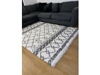 Cream and grey rug