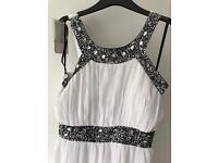 Grecian style white prom/party dress size 14
