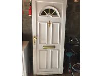 UPVC exterior door without frame