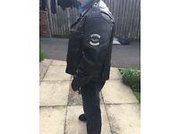 Harley Davidson genuine black leather jacket