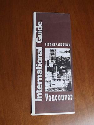 VANCOUVER CANADA CITY MAP AND GUIDE 1980 SHOPPING DINING ENTERTAINMENT TRAVEL