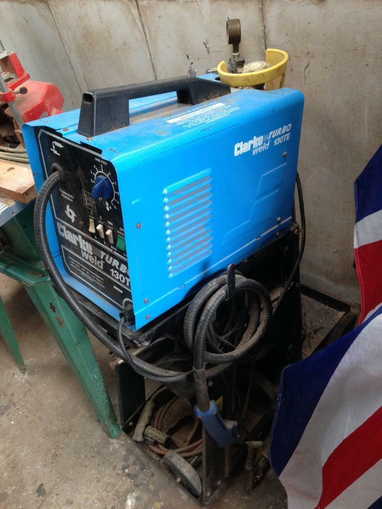 Clarke turbo weld 130te, with stand and gas etc | in Bradwell ...