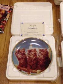 18 no. Collectible Danbury Mint Cats 1990's