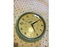 Blue retro kitchen clock