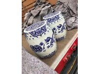 A pair of Stoneware Chinese barrel stools