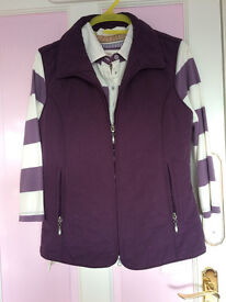 New - Women two piece polo shirt and waist coat, UK size 10