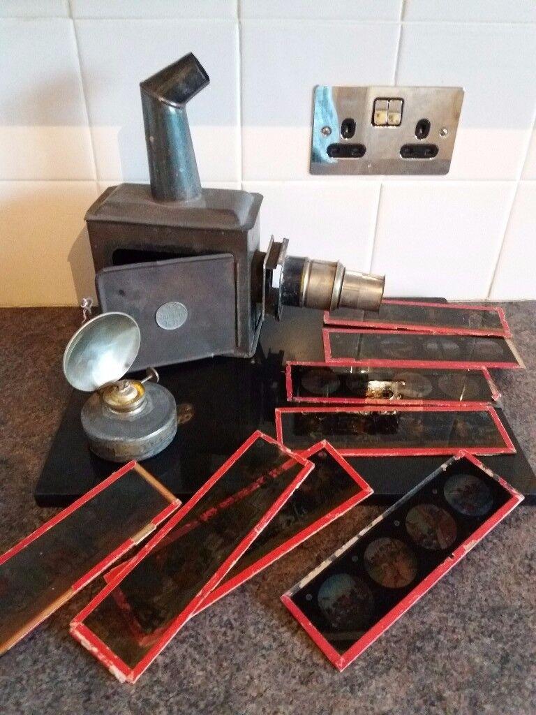 Antique Magic Lantern & slides