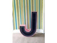 Big Light up Letter J - Jack Wills.