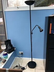 Stylish Uplighter with Reading Lamp