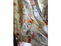 Sanderson floral curtain material