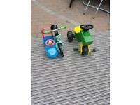 Kids balance bike tractor and car